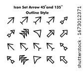 icon set arrow 45 and 135...