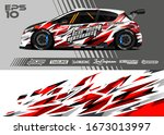 car wrap graphic livery design...   Shutterstock .eps vector #1673013997