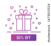 50 percent off sale gift box...