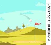 Golf Club Court Illustration....