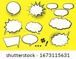comic speech bubble background... | Shutterstock .eps vector #1673115631