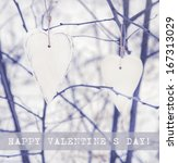 Two Aged Hearts Hanging On The...