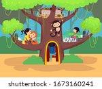 illustration of stickman kids...   Shutterstock .eps vector #1673160241