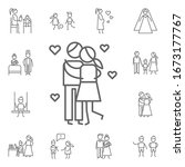 kiss  love  parents icon.... | Shutterstock . vector #1673177767