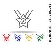 medal  star  usa multi color...