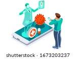 symbolic alert  infection risk...   Shutterstock .eps vector #1673203237