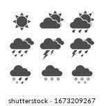 vector weather icon set.... | Shutterstock .eps vector #1673209267