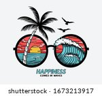 vector sun glasses with... | Shutterstock .eps vector #1673213917