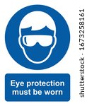 safety sign  eye protection... | Shutterstock .eps vector #1673258161