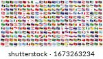 all national waving flags from...   Shutterstock .eps vector #1673263234