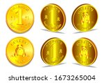 hieroglyphs mean people's... | Shutterstock .eps vector #1673265004