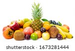 Tropical Fruit Isolated On A...