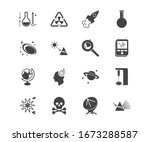science icon set and technical...