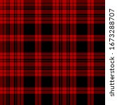 Black  Red Modern Tartan Plaid...