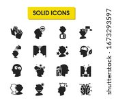 mental icons set with forward...