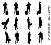 silhouettes of businesspeople | Shutterstock .eps vector #167330984