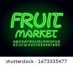 vector green banner fruit...   Shutterstock .eps vector #1673335477