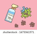 alcohol for anti virus. alcohol ...   Shutterstock .eps vector #1673361571