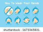step hands washing sequence... | Shutterstock .eps vector #1673365831