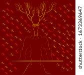 capra warrior with background...   Shutterstock . vector #1673369647