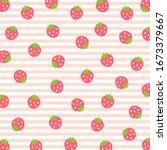 fruit pattern.cute fresh... | Shutterstock .eps vector #1673379667