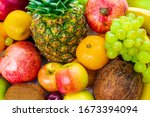 Organic Food Background....