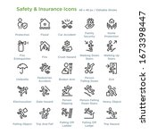 safety and insurance icons  ...