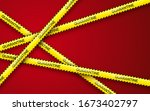 danger tape quarantine. warning ... | Shutterstock .eps vector #1673402797