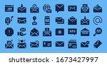 modern simple set of newsletter ...   Shutterstock .eps vector #1673427997