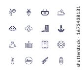 Editable 16 pixel icons for web and mobile. Set of pixel included icons line Sleeping bag, Keytar, Leica, Mouse, Casino chip, Dossier, Shopping basket, Pixel on white background