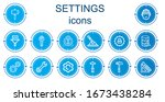 editable 14 settings icons for... | Shutterstock .eps vector #1673438284