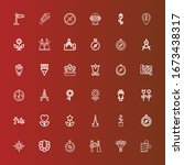 Editable 36 Rose Icons For Web...