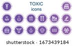 editable 14 toxic icons for web ... | Shutterstock .eps vector #1673439184