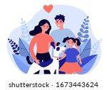 parents presenting pet to their ...   Shutterstock .eps vector #1673443624
