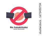 no handshake flat icon. no deal.... | Shutterstock .eps vector #1673450734