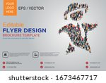poster and flyer design with... | Shutterstock .eps vector #1673467717