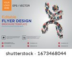 poster and flyer design with... | Shutterstock .eps vector #1673468044