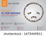 poster and flyer design with... | Shutterstock .eps vector #1673469811