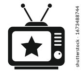 celebrity tv set icon. simple... | Shutterstock .eps vector #1673488744