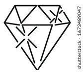 shiny diamond icon. outline... | Shutterstock .eps vector #1673489047