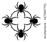 black spiders pattern. isolated ...   Shutterstock .eps vector #1673507791