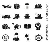 collections of icon shipping ... | Shutterstock .eps vector #1673513734