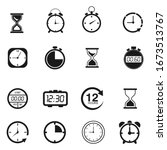 time and  clock icon set....