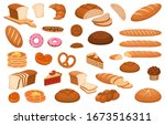 cartoon bread. various sweet... | Shutterstock .eps vector #1673516311