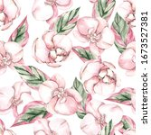 seamless pattern with tropical...   Shutterstock . vector #1673527381