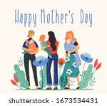 happy mothers day. vector... | Shutterstock .eps vector #1673534431