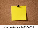 yellow reminder sticky note on... | Shutterstock . vector #167354051