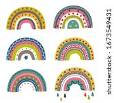 set of isolated colorful... | Shutterstock .eps vector #1673549431