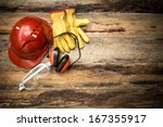 personal protection equipment | Shutterstock . vector #167355917