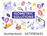 marketing tools and strategies  ... | Shutterstock .eps vector #1673583631